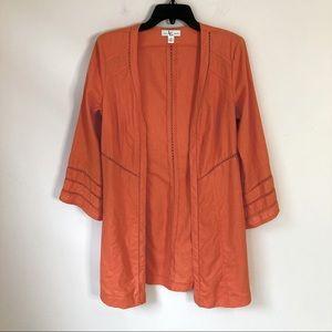 Orange 100% linen swimsuit cover up medium 8